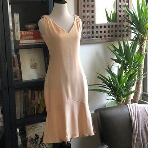 Carolina Herrera silk blush pink bead ruffle 4